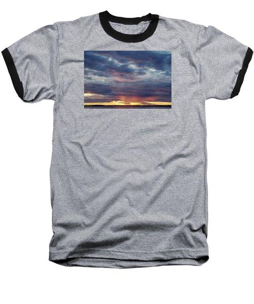 Sailboats On The Bay Baseball T-Shirt by Elvira Butler