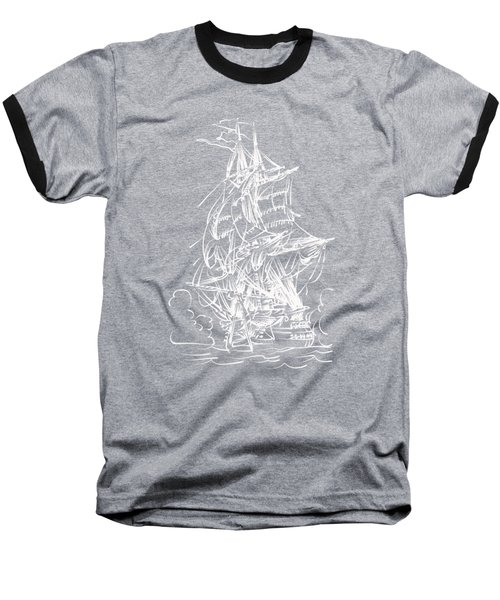 Baseball T-Shirt featuring the painting Sailing 2  by Andrzej Szczerski