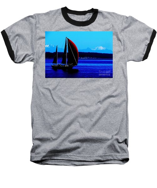 Sailing At Port Townsend Washington State Baseball T-Shirt