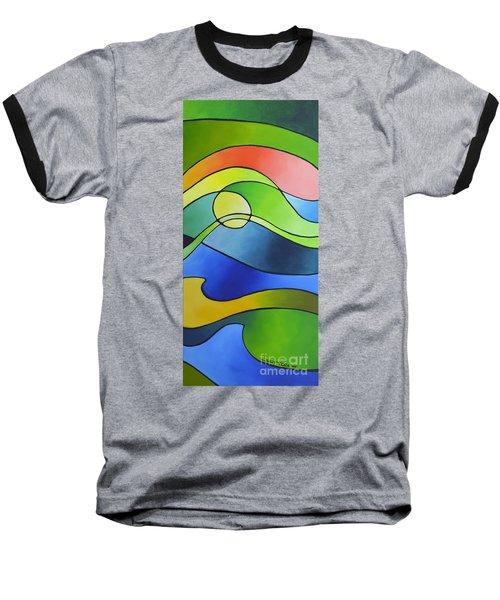 Sailing Away, Canvas Three Baseball T-Shirt