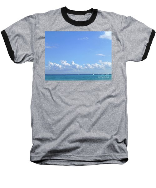 Baseball T-Shirt featuring the photograph Sailing Blue Seas by Francesca Mackenney