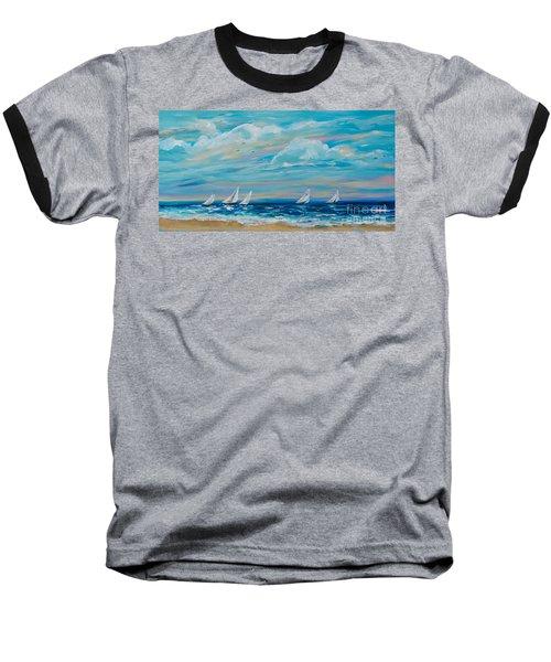 Sailing Close To The Shore Baseball T-Shirt