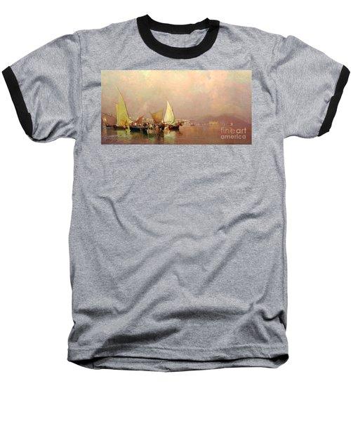 Sailing Fishermen Boats In Naples Baseball T-Shirt