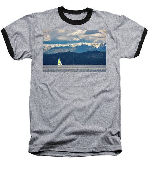 Sailing Flathead Lake Baseball T-Shirt