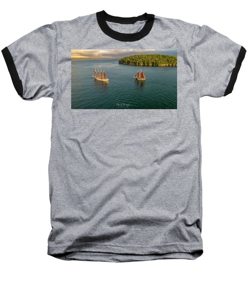 Sailing Frenchman Bay Baseball T-Shirt