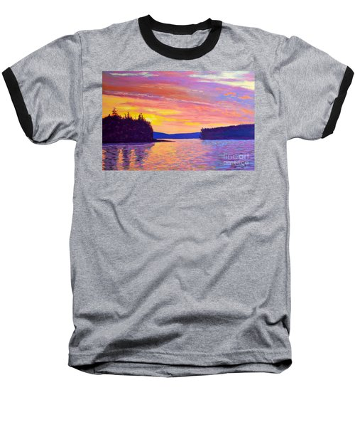 Sailing Home Sunset Baseball T-Shirt