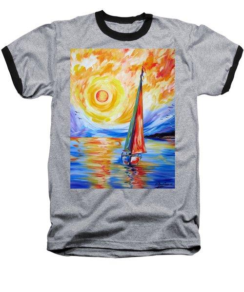 Sailing In The Hot Summer Sunset Baseball T-Shirt