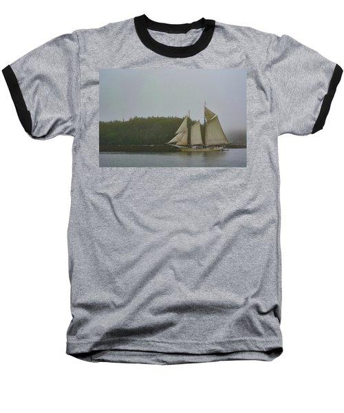 Sailing In The Mist Baseball T-Shirt