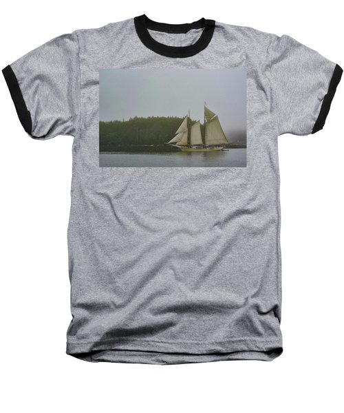 Sailing In The Mist Baseball T-Shirt