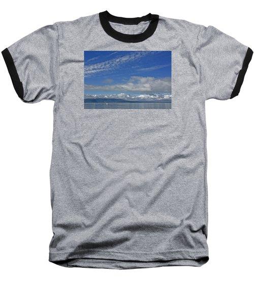 Sailing In The San Juan Islands Baseball T-Shirt by Elvira Butler
