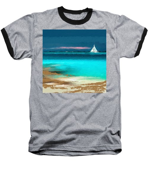 Sailing Just Offshore Baseball T-Shirt