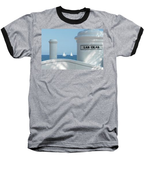 Sailing Las Olas Baseball T-Shirt