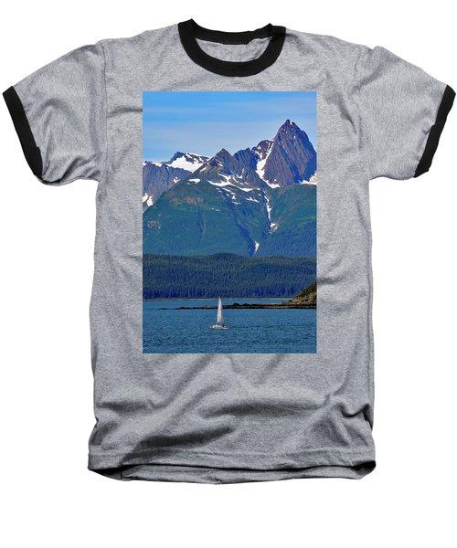 Sailing Lynn Canal Baseball T-Shirt by Cathy Mahnke