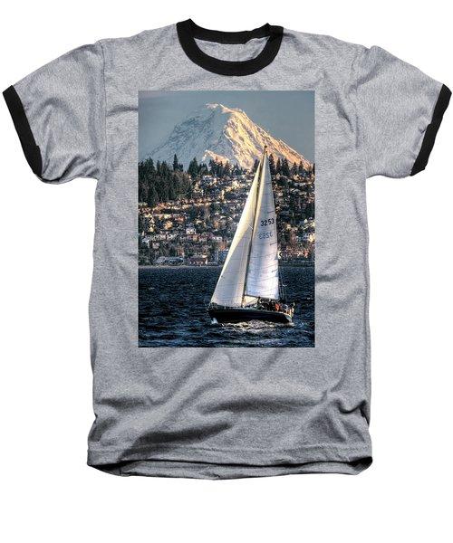 Sailing On Elliot Bay, Seattle, Wa Baseball T-Shirt
