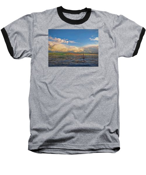 Sailing On Galilee Baseball T-Shirt by Dave Luebbert