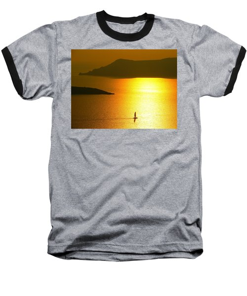 Baseball T-Shirt featuring the photograph Sailing On Gold 1 by Ana Maria Edulescu