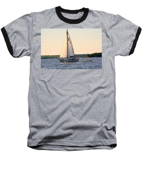 Sailing On Lake Murray Sc Baseball T-Shirt