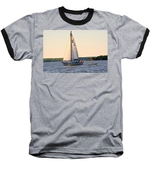 Sailing On Lake Murray Sc Baseball T-Shirt