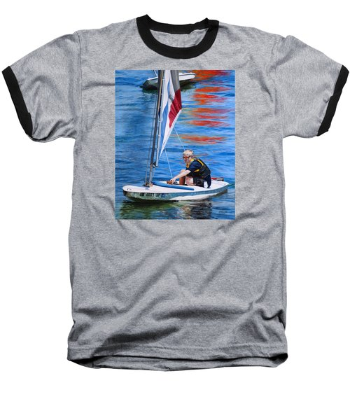 Sailing On Lake Thunderbird Baseball T-Shirt