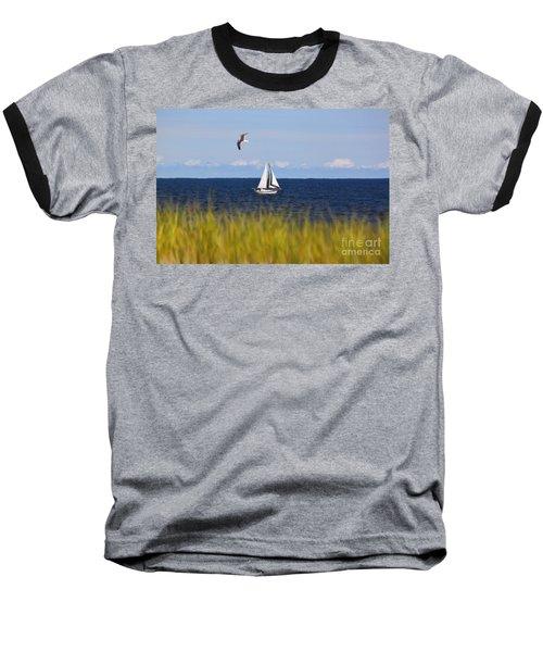 Sailing On Long Beach Island Baseball T-Shirt