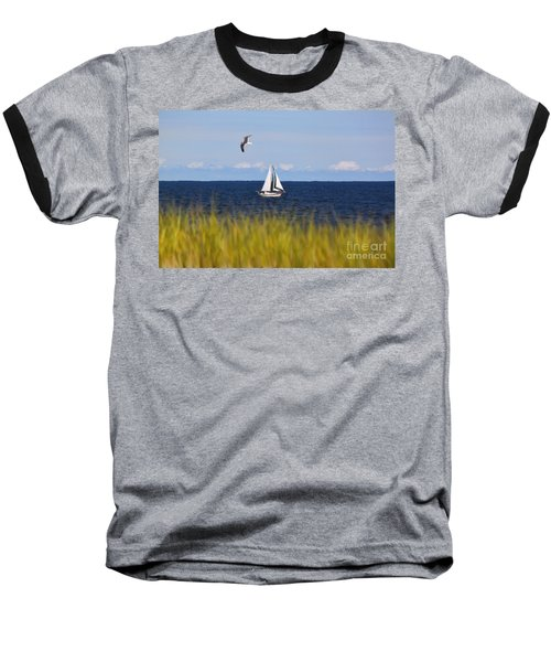 Sailing On Long Beach Island Baseball T-Shirt