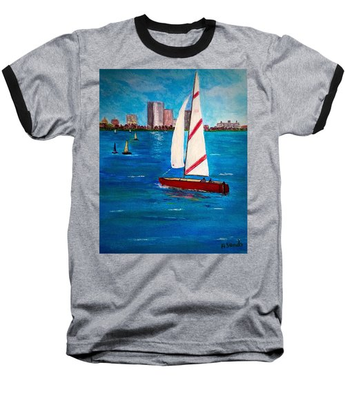 Sailing On The Charles Baseball T-Shirt