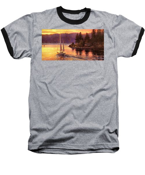 Sailing On The Sound Baseball T-Shirt
