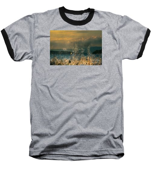 Baseball T-Shirt featuring the photograph Sailing On The Winnipesaukee by Mim White