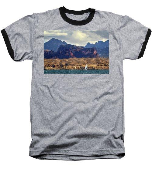 Sailing Past The Sleeping Dragon Baseball T-Shirt