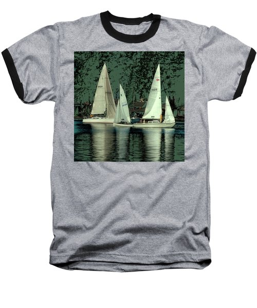 Baseball T-Shirt featuring the photograph Sailing Reflections by David Patterson
