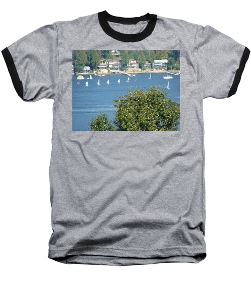 Baseball T-Shirt featuring the painting Sailing by Rod Jellison
