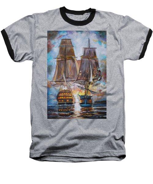 Sailing Ships At War. Baseball T-Shirt