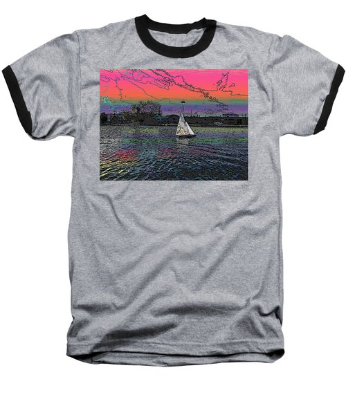 Sailing South Lake Union Baseball T-Shirt by Tim Allen