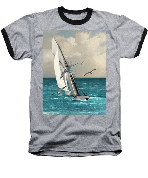 Sailing Southern Seas Baseball T-Shirt