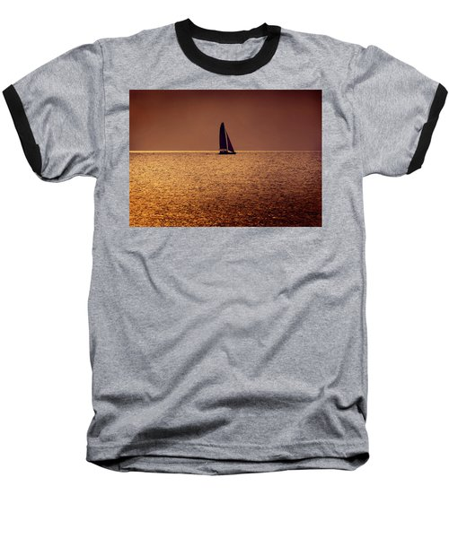 Sailing Baseball T-Shirt by Steven Sparks