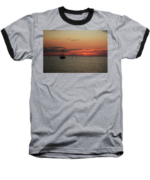 Sailing Sunset Baseball T-Shirt