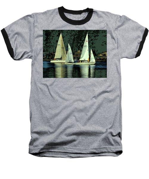 Sailing The Harbor Baseball T-Shirt