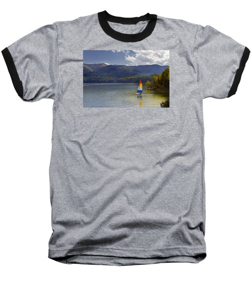 Sailing The Mountain Lakes Baseball T-Shirt