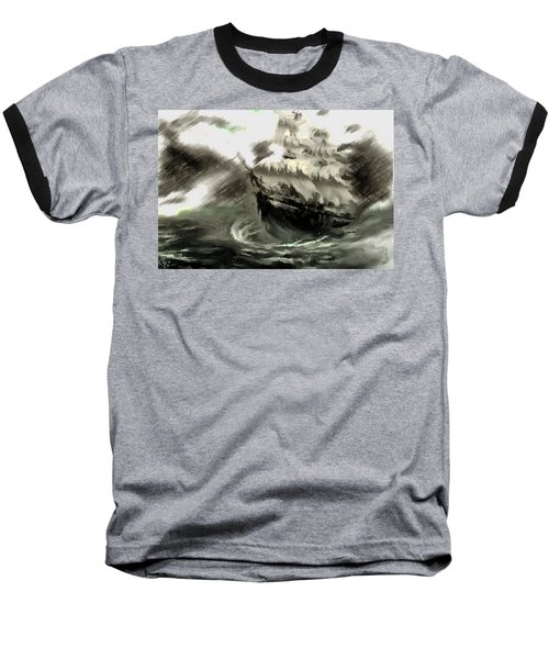 Sailing The Stormy Seas Baseball T-Shirt