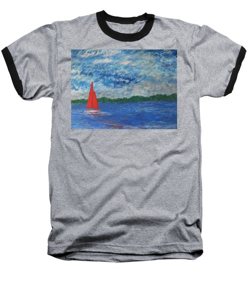 Sailing The Wind Baseball T-Shirt by John Scates