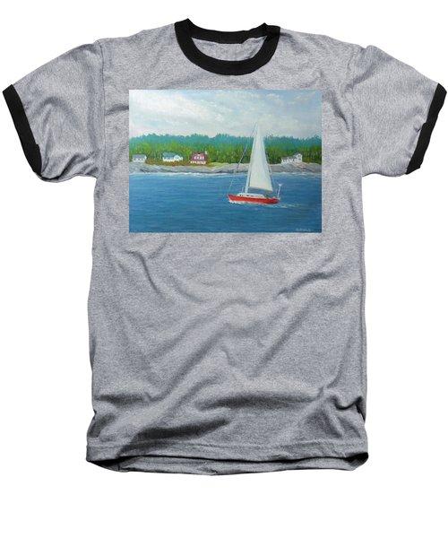 Sailing To New Harbor Baseball T-Shirt