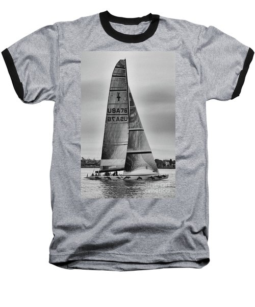 Sailing With Dolphins Baseball T-Shirt