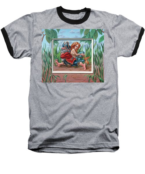 Sailor And Mermaid Baseball T-Shirt