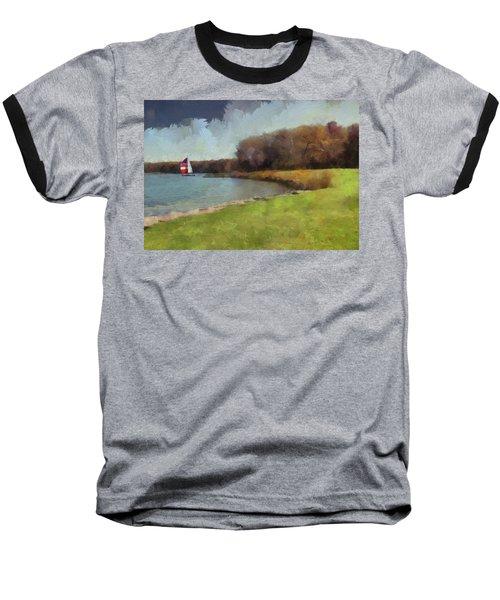 Sails On Lake Wampum Baseball T-Shirt