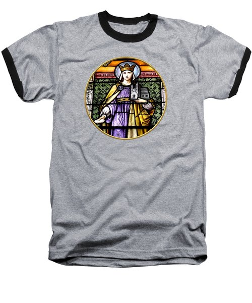 Saint Adelaide Stained Glass Window In The Round Baseball T-Shirt