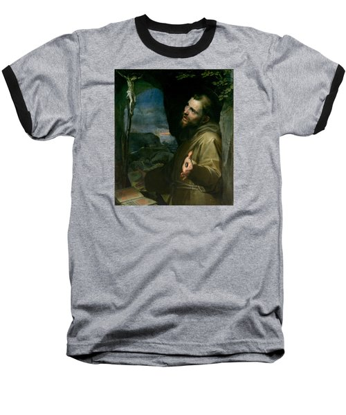 Baseball T-Shirt featuring the painting Saint Francis by Federico Barocci