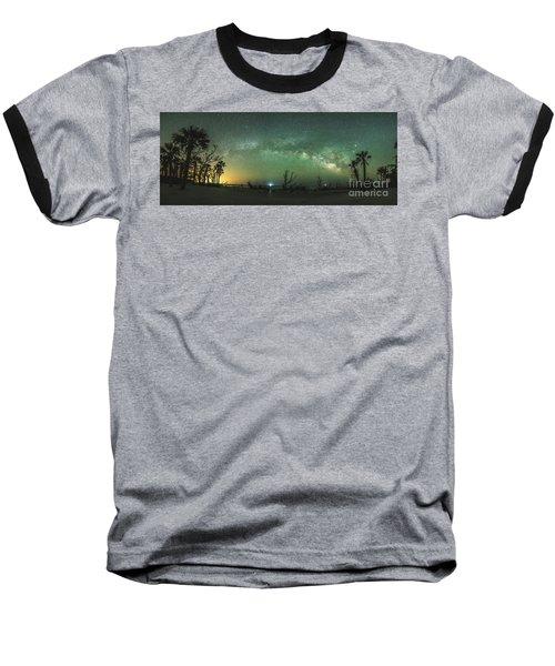 Saint Helena Island Milky Way Baseball T-Shirt by Robert Loe