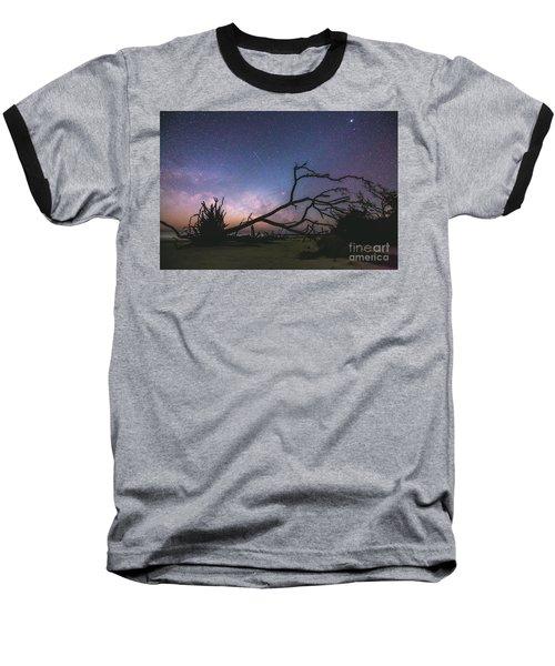 Saint Helena Milky Baseball T-Shirt by Robert Loe
