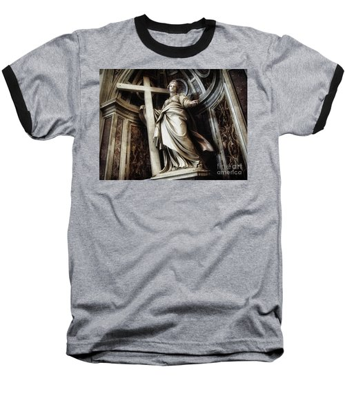 Saint Helena Statue Inside Saint Peter S Basilica Rome Italy Baseball T-Shirt