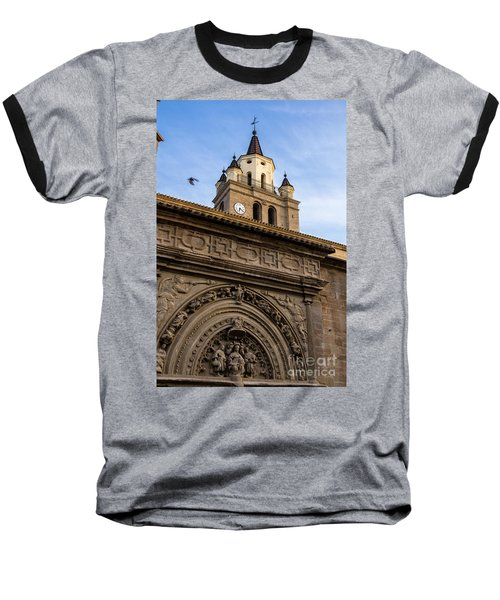 Baseball T-Shirt featuring the photograph Saint Hieronymus Facade Of Calahorra Cathedral by RicardMN Photography